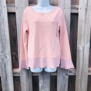 Pink Long Sleeve Ann Taylor Sweater Size Large